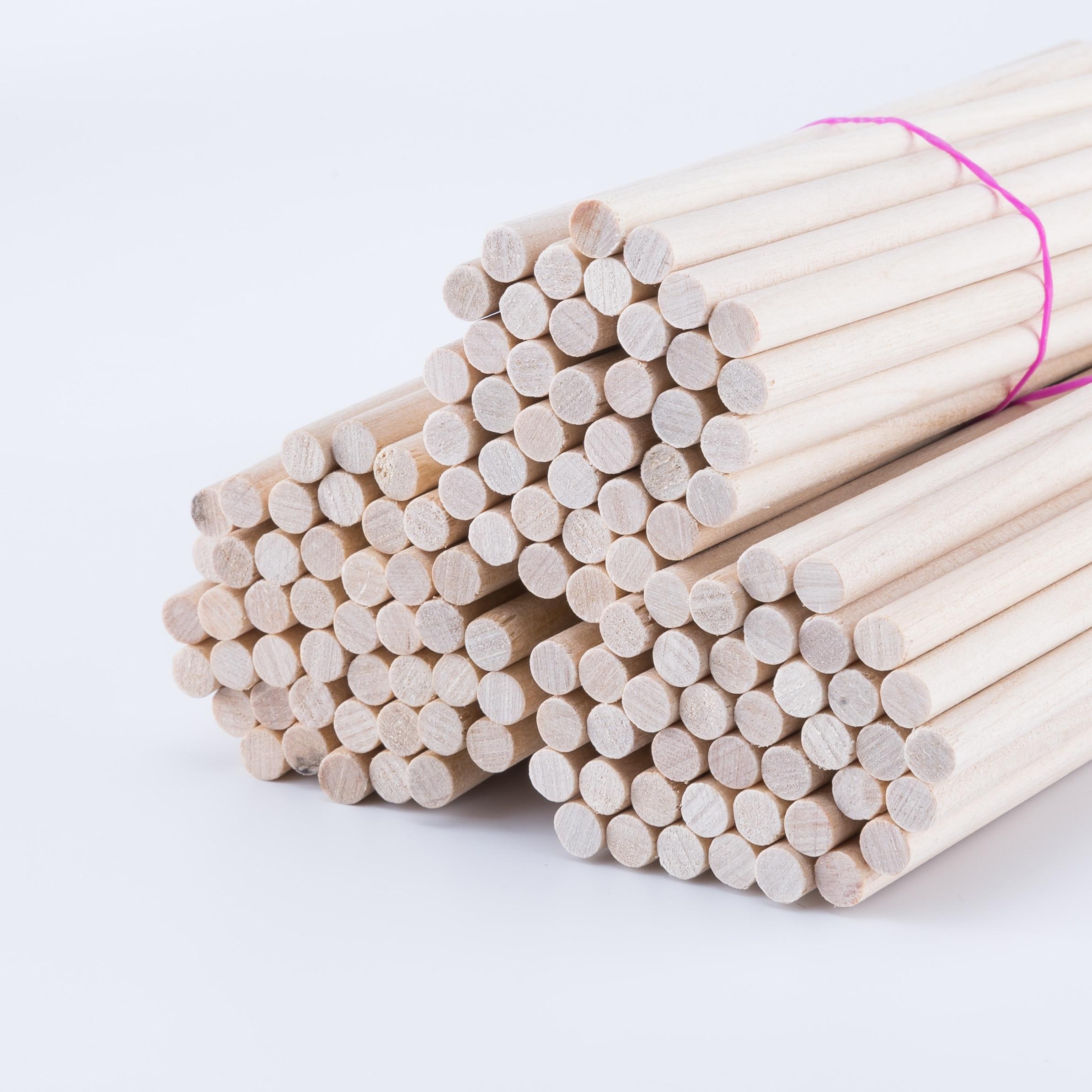 25/50Pcs 0.15cm Maple Round Wooden Rods Sticks Premium Durable Wooden Dowel For DIY Crafts Building Model DIY Food Craft