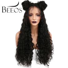 BEEOS 150 Density Full Lace Human Hair Wigs For Black Women Pre Plucked Kinky Curly Brazilian Non Remy Lace Wigs Bleacked Knots