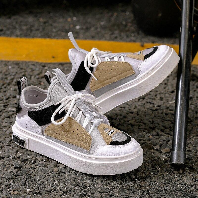 Las mujeres zapatillas de deporte para mujer zapatos de primavera otoño zapatos casuales zapatos caminar al aire libre de moda de cuero de gamuza transpirable zapatos de nuevo