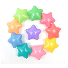 200st Eco-Friendly Pentagram Star Farverig Blød Plast Vand Pool Ocean Wave Ball Baby Legetøj Stress Air Ball Outdoor Sports kid