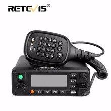 Retevis RT90 DMR Walkie Talkie VHF UHF de Doble Banda Móvil Del Coche (GPS) 50 W VOX Digitales/Analógicas Dos Modos de Estación de Radio + Cable de Programa