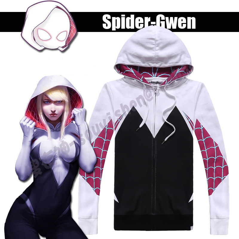 <font><b>The</b></font> <font><b>Amazing</b></font> <font><b>Spider-Man</b></font> <font><b>Gwen</b></font> Stacy Cosplay <font><b>Costume</b></font> for Halloween <font><b>Costume</b></font> for <font><b>Women</b></font> Female Spiderman Sweater Cotton Free Shipping