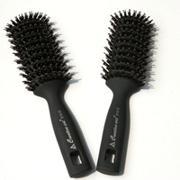 HARMONY 6pcs Black OR Brown Boar Bristle Hair Brush for Hair Extensions Professional Combs Brush
