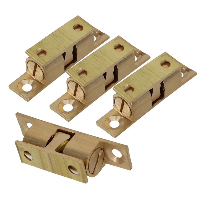 High Quality 4 Pcs Furniture Door Catch Magnetic Magnet for DIY Furniture & Wood Doors Steel/Gold Plated 4cm BS 5 pack home off white silver tone magnetic catch door stopper