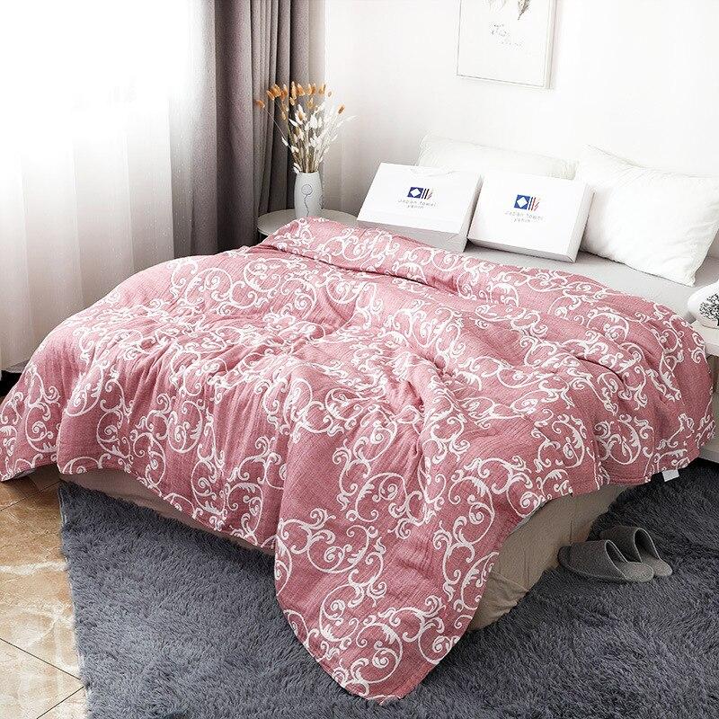 Junwell 100% хлопок муслиновое одеяло кровать диван путешествия дышащий Цветочный Большой Мягкий пледы одеяло Para одеяло|Одеяла|   | АлиЭкспресс