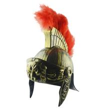 New Plastic Samurai Hat Cos Masquerade Helmet Spartan Warrior Hat Medieval Ancient Roman Vintage Helmet Feather Lion Party Hats цена в Москве и Питере