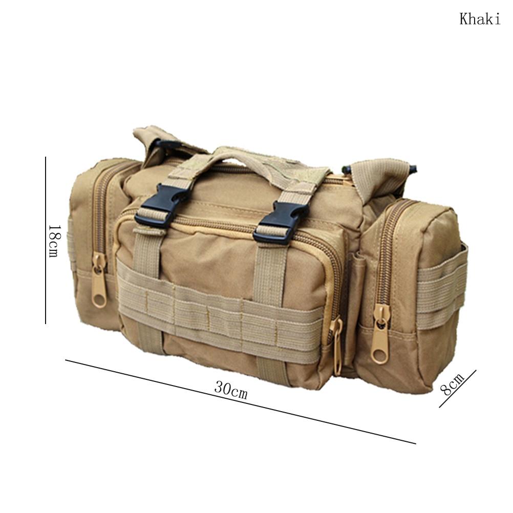 Prix pour En plein air Militaire Tactique Taille Pack Oxford Molle Camping Randonnée Poche Sac À Dos Sac Taille Sac militar Haute Qualité