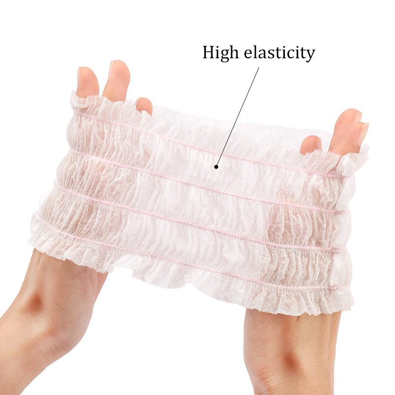 10 20 50pcs Disposable Headbands Elastic Non woven Grafting Eyelashes SPA Hair Salon Bathroom Supplies Makeup Bathing Tool in False Eyelashes from Beauty Health