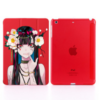 """2 3 3 Girl Print Leather Case For  iPad 2017/2018 9.7"""" PU Leather Stand Cover Hard PC Back Case For iPad 2 3 4 auto sleep & wake up (4)"""