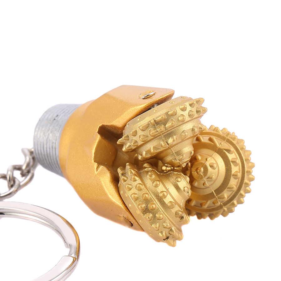 Disegno della novità di Qualità Eccellente PDA del Giacimento di Punta del trapano Portachiavi In Metallo Portachiavi per il Regalo di Affari