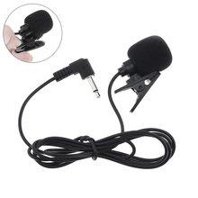 Support haut-parleur Portable 3.5mm Mini casque filaire Microphone revers Lavalier pince Microphone pour la conférence d'enseignement de Lecture