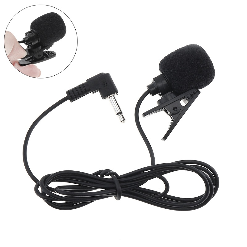 Universal Portable 3.5mm Mini Wired Headset Microphone Lapel Lavalier Clip Microphone For Lecture Teaching Conference