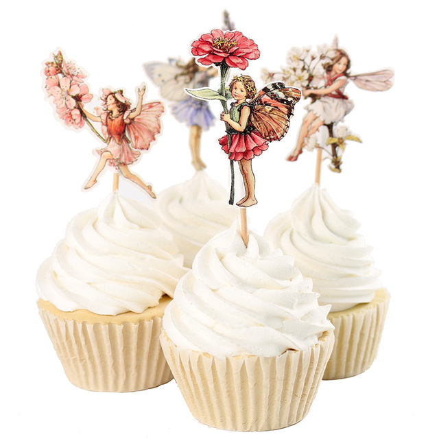 Fairy princess cupcake toppers party girl baby bridal ...