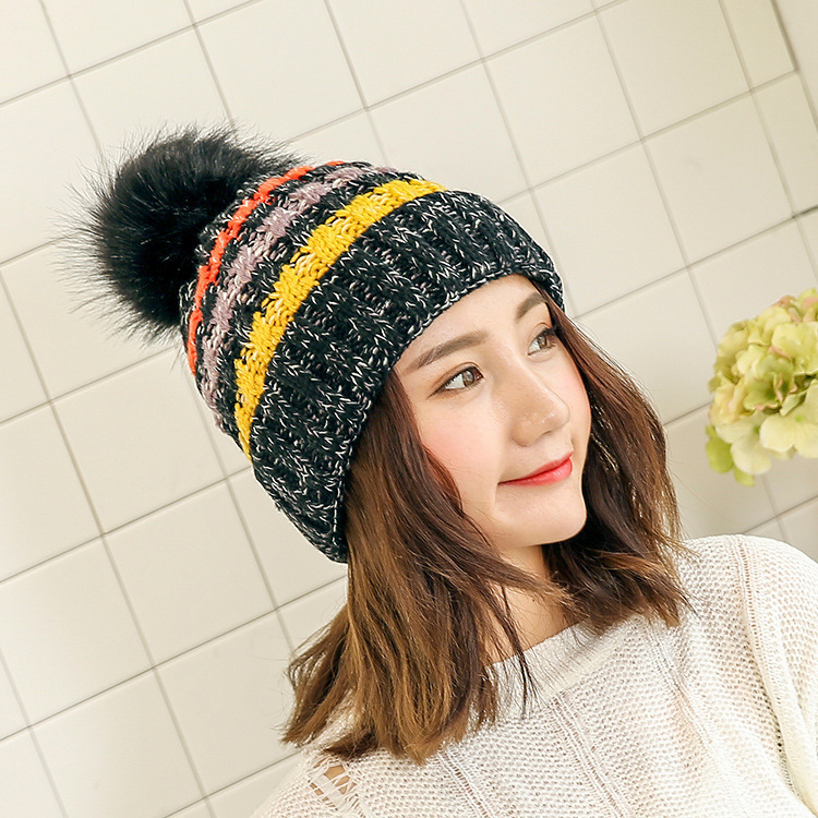 2017 Winter Gorro Fashion Female Beanies Cap Fleece Thickening Wool Hat for Women Warm Caps Earmuffs Girl Knitting Hats wuhaobo the new arrival of the cashmere knitting wool ladies hat winter warm fashion cap silver flower diamond women caps