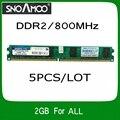 Оптовая 5 ШТ. Бренд РАМС DDR2 800 МГц 2 ГБ PC2-6400 Совместимость с 667 МГц 533 МГц DIMM Памяти Для настольный ПК Для ВСЕХ