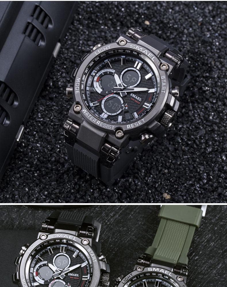 14.digital men's wristwatches military