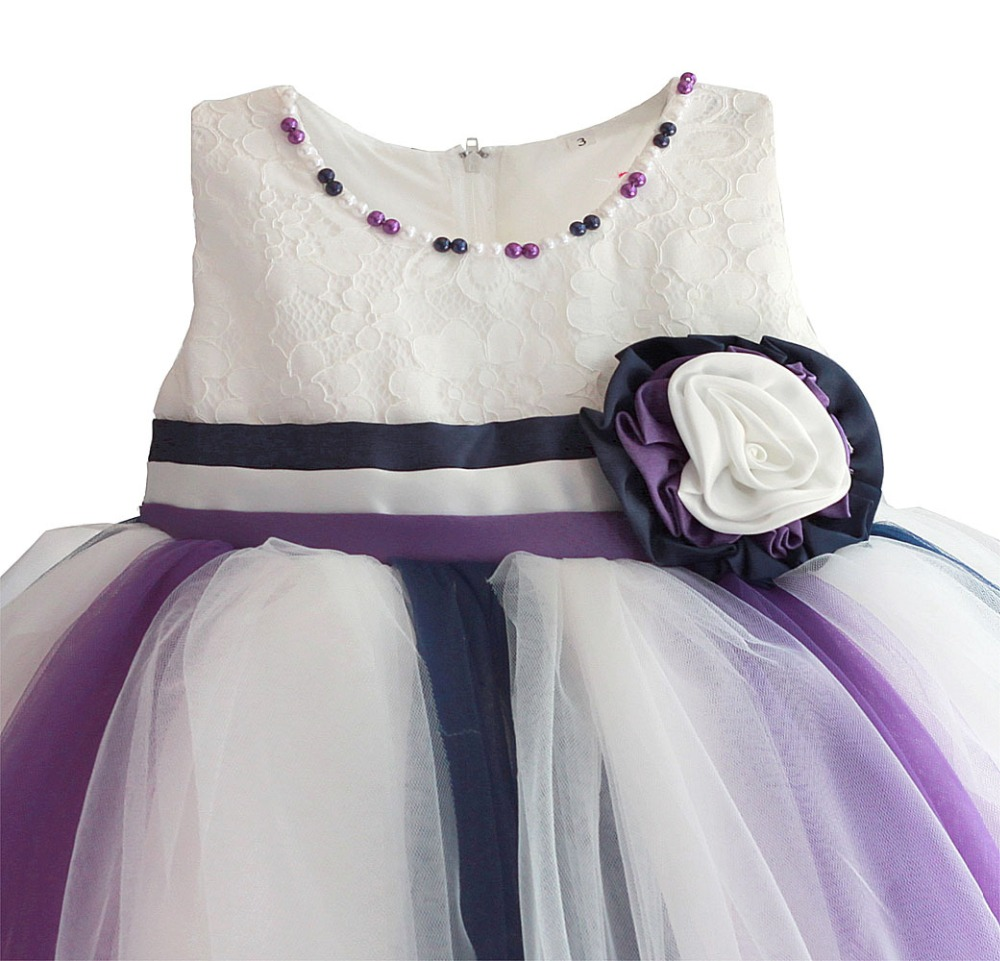Newborn Baby Girl 1 Year Birthday Dress Colorful Tulle Toddler Girl Party Dress Infant Princess Kids Dresses For Girls 6M-4T