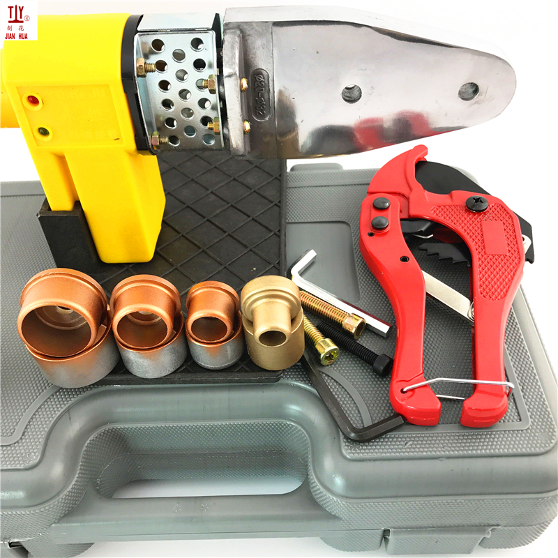 Plumber Tools 220V Automatic Heating Plastic Pipes Welder With Plastic Shell And Cutter DN16mm/20mm/25mm/32mm Pipe Tube To Use