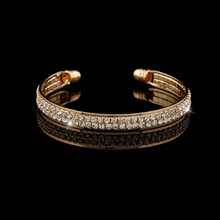 Hot Sale Fashion Bracelet bangle women Gold silver Plate Wedding Party Rhinestone crystal opening Bangle Jewelry