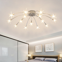 Modern Minimalist Ceiling Lamps Living Room Romantic Child's Bedroom Lamp G4 LED Ceiling Chandelier Indoor Lighting Fixture