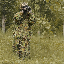 Daddy Chen Snow Sniper Ghillie Suits Camouflage Hunting 3D Clothing Maple Leaf Bionic Ghillie Suits Yowie Sniper Birdwatch Cloth