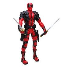 Новые 33 см игрушки Marvel Дэдпул фигурка качающаяся голова 1/10 Масштаб Окрашенные Уэйд Уинстон Вилсон супергерой Коллекционная модель куклы игрушки