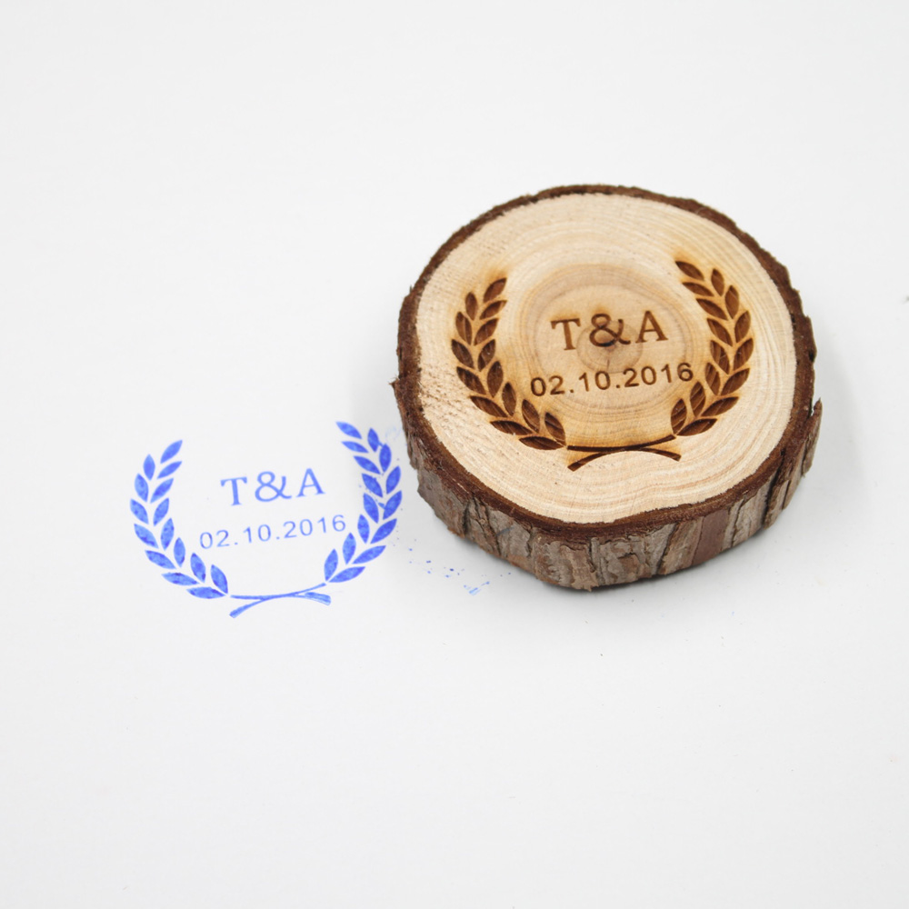 Personalized Wedding Stamp Custom Wood Rubber