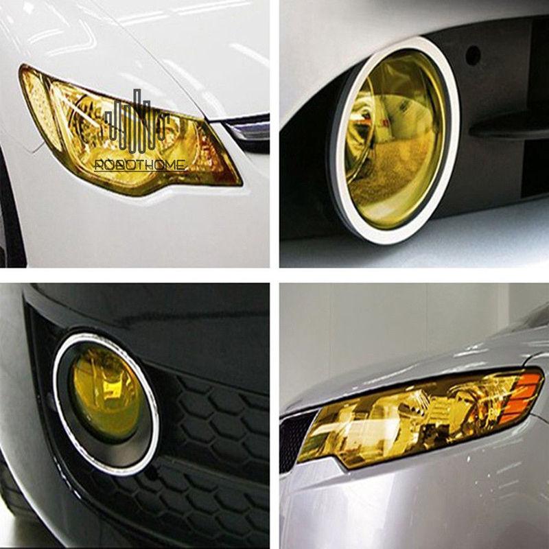 30*60cm Auto Products Vinyl Film Car Light Stickers Self-Adhesive Fog Lamp Headlight Tail Light Tone Waterproof Car Stickers