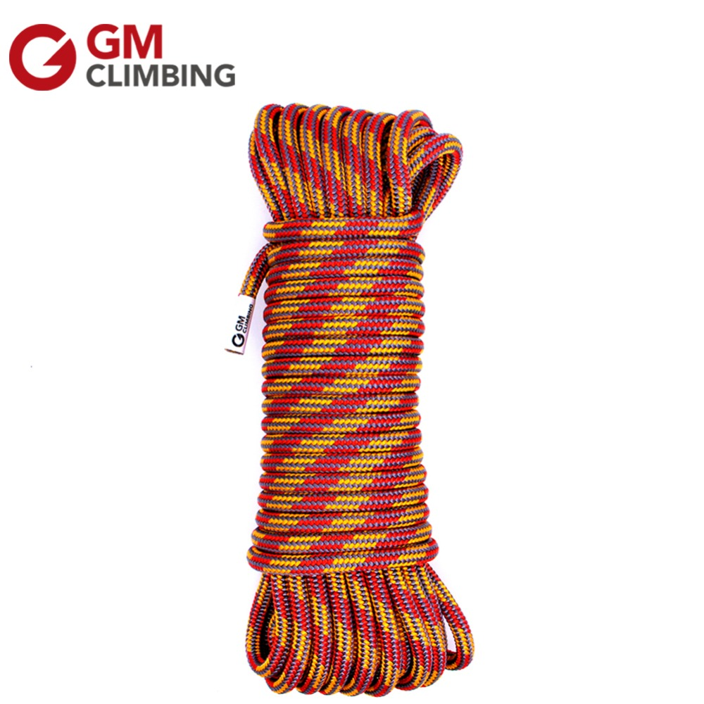 Climbing Rope 10mm Nylon Core Polyester Sheath Double Braid Accessory Cord 100ft Safety Rescue Rope Utility Cord Rigging Pulling xinda rock climbing handle control non confusion abseiling device stop descender outdoor rappelling rescue for 10 13mm rope