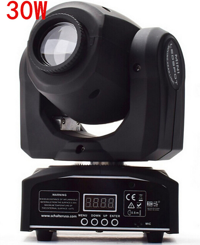 fast shipping  led 4IN1 30W mini led spot moving head light Mini Moving Head Light 30W DMX dj 8 gobos effect stage