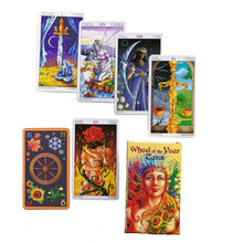 2019 New Tarot Wheel Game  Read Fate Year Card Family Party Board 78-card Deck