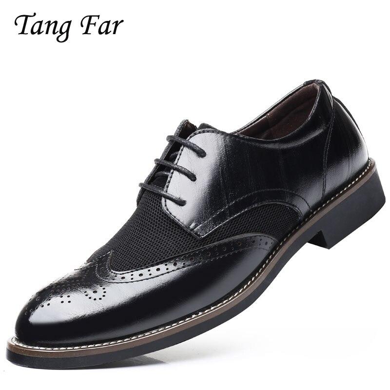 Atmungs Luxus Italienischen Männer Brogue Kleid Schuhe Formale Business Oxfords Plus Größe Slip Auf Fahrer Müßiggänger Spitz Mokassin Bestellungen Sind Willkommen.