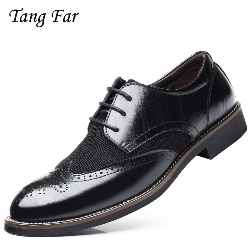 Breathable Luxury Italian Men Brogue Dress Shoes Formal Business Oxfords Plus Size Slip On Driver Loafers Pointed Toe Moccasin high quality men fashion business office formal dress breathable cow leather brogue shoes gentleman tassel slip on shoe loafers