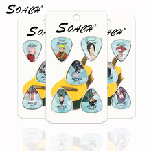 SOACH new 10pcs/lot 0.71mm Celluloid sheet pick Bass guitar picks with Naruto package sent randomly Guitar Parts & Accessories(China)