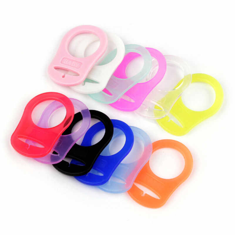 5 Pcs Multi Colors Silicone Baby Dummy Pacifier Holder Clip Adapter For MAM Ring 5PCS Silicone Button 12 Colors