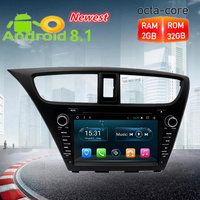 Octa Core Android 8.1 Car Radio DVD GPS Navigation Multimedia Player For Honda Civic Hatchback 2013 2014 2015 Auto Audio Stereo