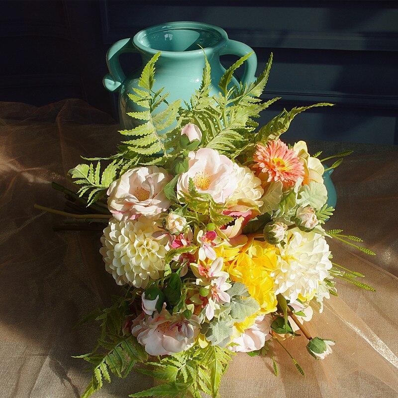 INDIGO-ventes exclusives Bouquet rose pivoine Dahlia anémone Arrangement de fleurs décoration de la maison fête événement livraison gratuite