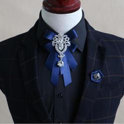 Роскошный Свадебный галстук-бабочка для жениха, модная лента с бриллиантами, галстуки-бабочки для свадебной вечеринки