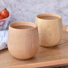 30pcs Beech/Rubber Wood Cup Primitive Handmade Natural Wooden Cup Breakfast Beer Milk Drinkware Green Tea Cup