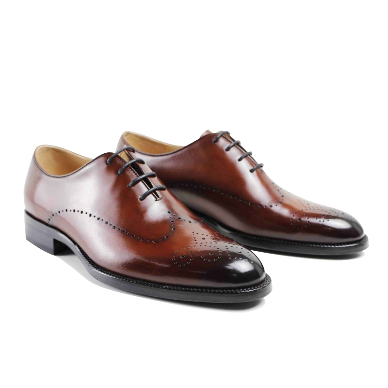 2017 Men Flat Vintage Retro Custom Mens Oxford Shoes Formal Dress Wedding Party Business Genuine Leather  original design blaibilton formal dress men shoes oxford 100