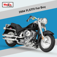 Maisto for Harley FLSTFI Fat Boy 2004 Motorcycle Model Diecast 1:18 Scale Alloy Motorbike Model Motocross Cross country Model