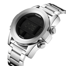 EXPCNI Mens Watches Army Military LED Digital Watch Stainless Steel Men Sport Wristwatch Waterproof Automatic Watch Male Relogio