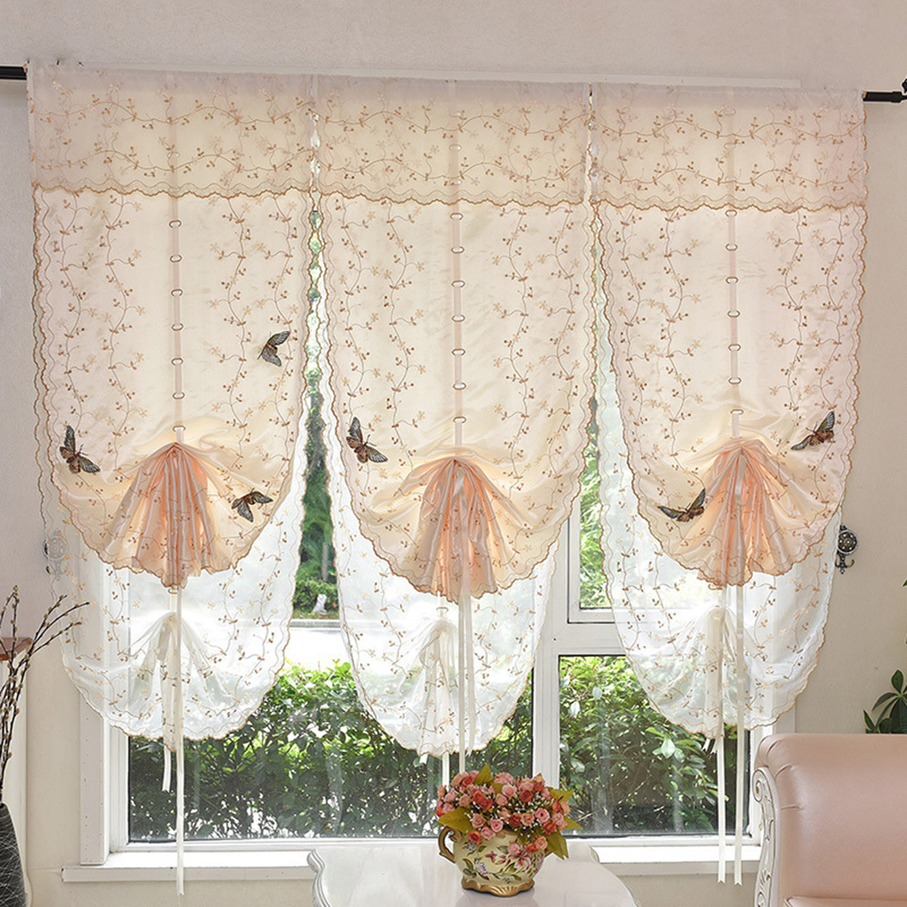amazon homey design tie linen scandinavian curtains co drapes made handmade of white dp top uk