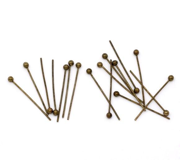 DoreenBeads 1000 Bronze Tone Ball Head Pins 20mmx0.5mm Findings (B10338)