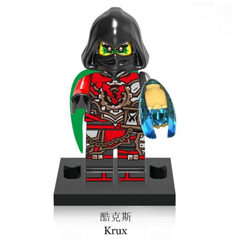 XH572 Super Heroes Ninjagoes Figures Krux Lloyd The wei snake Building Bricks Blocks Education Toys for children birthday gifts