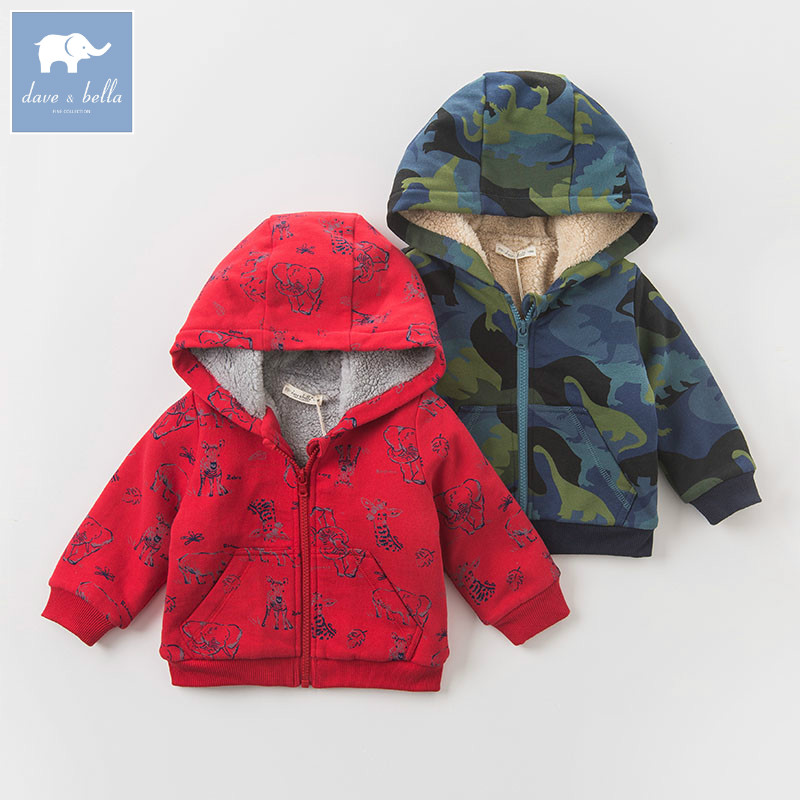 DB4136-B dave bella autumn infant baby boys fashion printed coats kids toddler Hooded coat children hight quality clothes db6124 dave bella autumn infant baby boys girls coat fashion clothes toddler boys print hooded coats children high quality