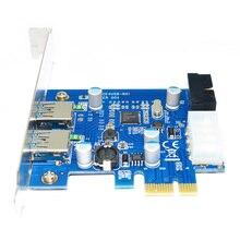 PCI-e для USB 3.0 Type A + 20 Контактный Внутренний Карты Расширения Hub Контроллер PCI Express Card Adapter ж/Molex Питания