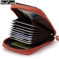 100 Made Of Genuine Leather Men Credit Card Holder Women Cardholder Porte Carte Credit Top Leather