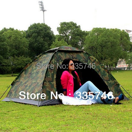 ФОТО Ultralight Waterproof Camouflage Cloth Camping Tents 1 Person Army Military Outdoor Camping Equipment Single Leisure Tent 2014