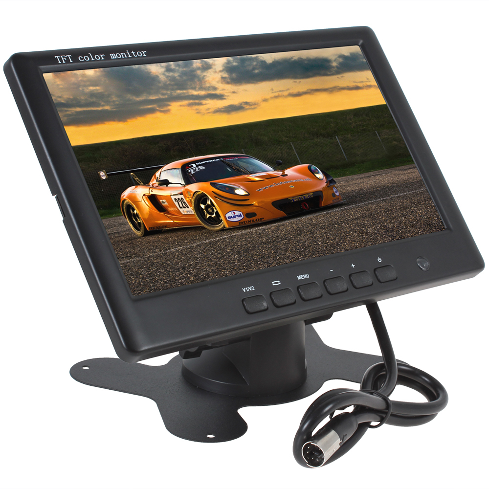 Sale 7 Inch HD 800 x 480 Super Thin Color TFT LCD 2 Channels Video Input Car Rear View Monitor